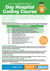 Day Hospital Coding Course Brochure